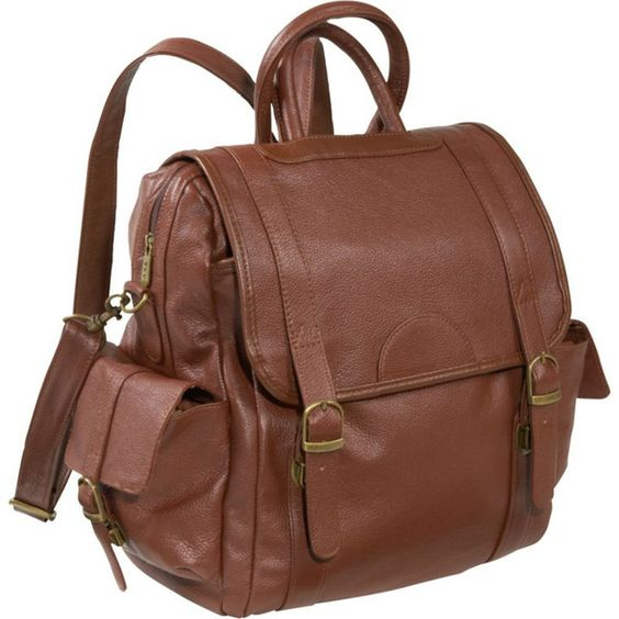 Brown Leather Small Backpacks for Girls