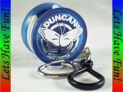 Duncan Butterfly Yo-Yo - Blue by Duncan. $5.75. Duncan Butterfly Yo-Yo - Blue paved the way to a new era of yo-yo shapes.