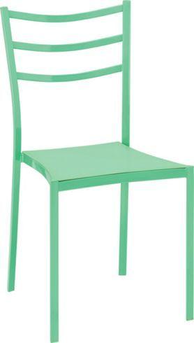 Trendiger Stuhl im modernen Outfit in Grün - praktisch und bequem