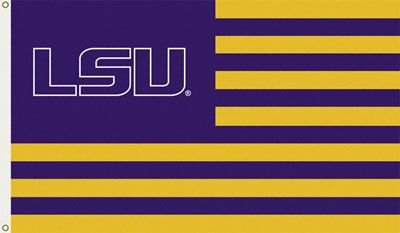 Show everyone that you are a die-hard LSU Tigers fan by flying this 3'x5' striped flag.