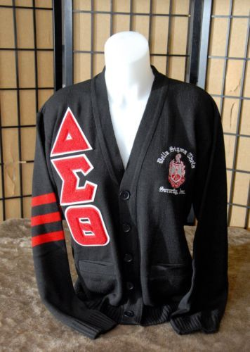 Delta sigma theta black cardigan sweater 39 nalia - Delta sigma theta sorority cardigans ...