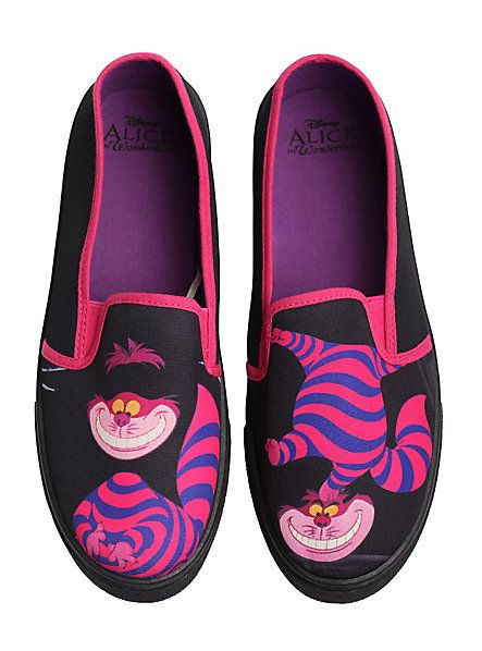 Disney Alice In Wonderland Cheshire Cat Slip-On Sneakers | Hot Topic