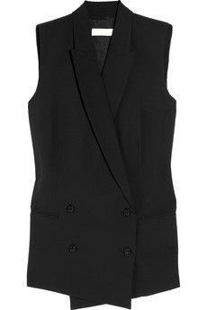 MICHAEL Michael Kors|Double-breasted crepe vest|NET-A-PORTER.COM - StyleSays