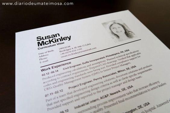 Currículo, carta de apresentação e entrevista.