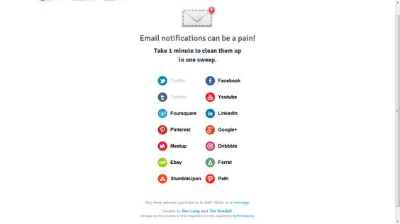 How to reset e-mail notifications for popular Web services like Facebook and Twitter