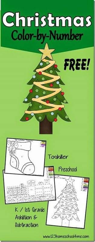 FREE Christmas Worksheets - Color by Number! What a fun way for ...