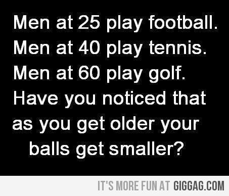 Have you noticed that as you get older your balls get smaller ?