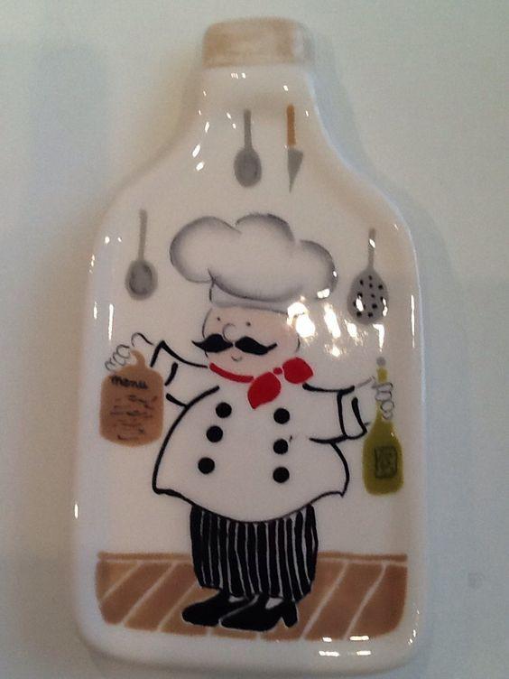 Porta azeite cozinheiro - Studio Seramik