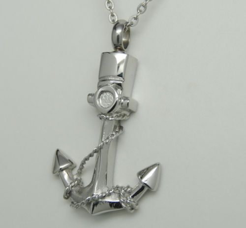 ANCHOR CREMATION JEWELRY BOAT URN NECKLACE SHIP SAILOR MEMORIAL ↪ Now only  $14.24 #cremationjewelry  #holyurns  #love  #ebay #amazoncollections #love
