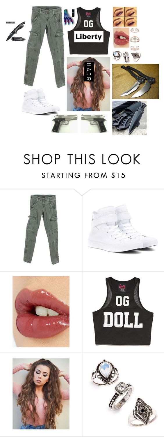 """""""Untitled #688"""" by julia-m-a-r-v-e-l ❤ liked on Polyvore featuring J Brand, Converse, Charlotte Tilbury, Forever 21 and Topshop"""