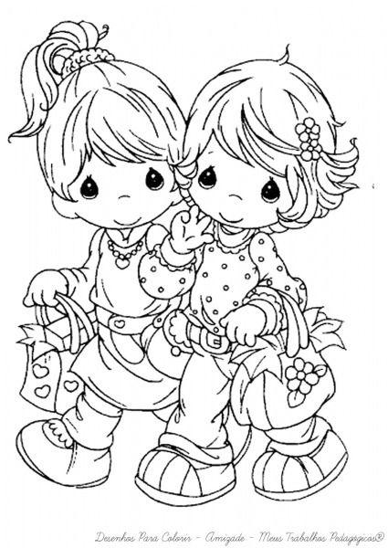 Desenhos Para Colorir Amizade Com Imagens Desenhos Para