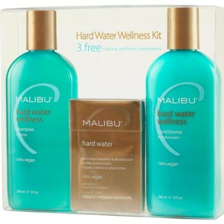 If your hair ever feels like straw, you just might love this: sulfate-free HARD WATER WELLNESS Shampoo and Conditioner from  Malibu C.  I live in the desert and have very hard water, but I've been using this for several months now, and it makes a HUGE difference.