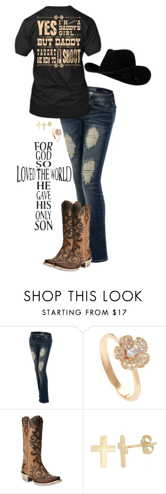 """July In Cheyenne"" by christina-marie-miller ❤ liked on Polyvore featuring Ariat and Fremada"