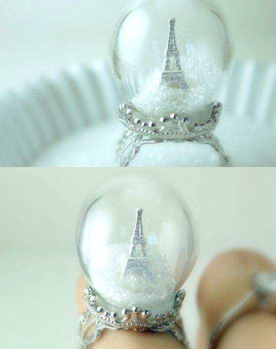 paris globe ring #fashion #accessories:
