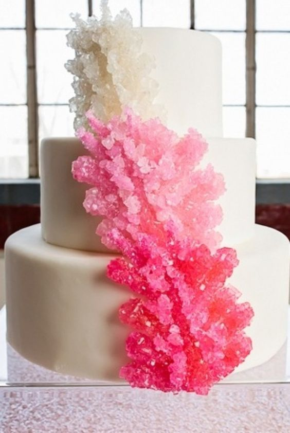 Rock candy cake looks like coral.. would make a great ocean themed event..