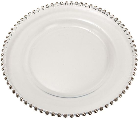 "UMA Inc Glass Charger Plate 13""D"