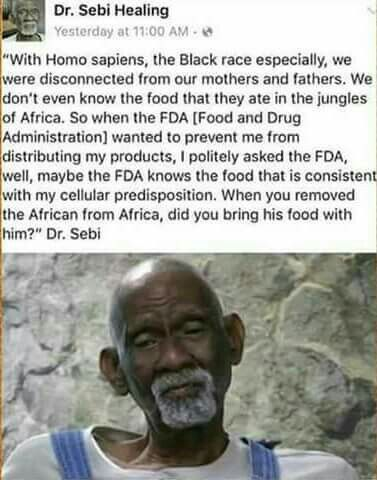 Dr Sebi on African American's diet (Real Names- Hebrew Israelites- Children of the Most High) Stop eating polluted American foods.