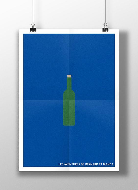 Série de posters minimalistes des films Disney