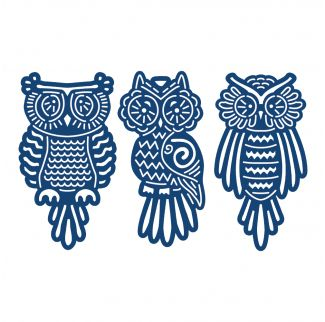 D132 Tattered Lace Dies - Baby Owls