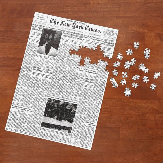 The New York Times Jigsaw Puzzle Of Your Birth Date - Hammacher Schlemmer