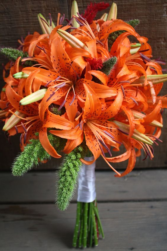 Tiger lily Wedding bouquet