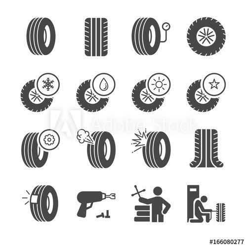 Tire Icons Set Tire Icon Icon Company Logo Design