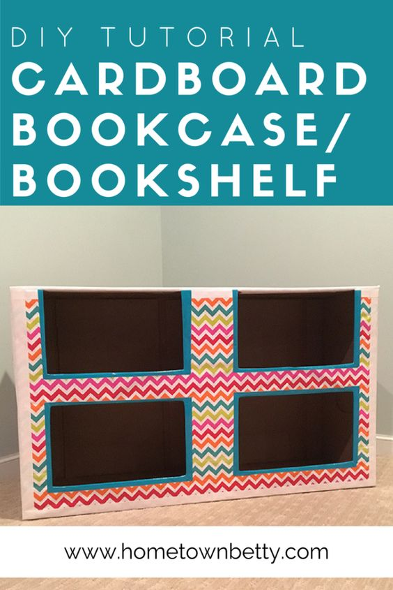 Want to make a bookcase/storage shelf for your child's bedroom or playroom? Check out this nifty DIY - all for just a few bucks. Click to see more at Hometown Betty.