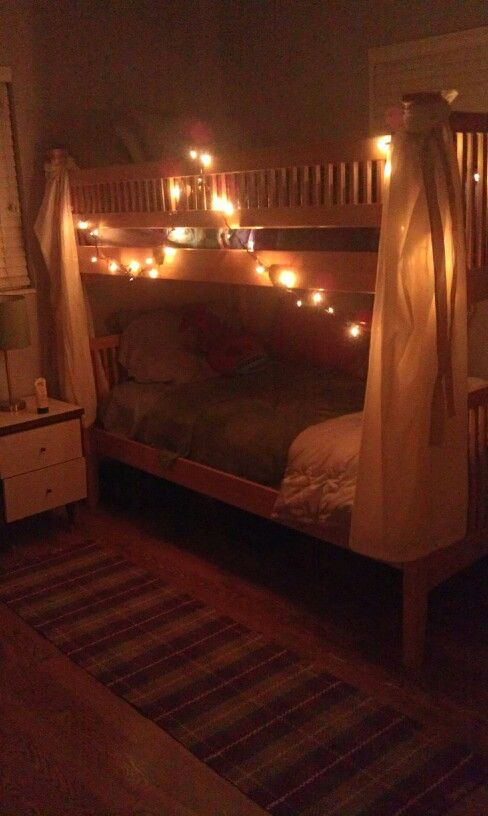 bunk bed christmas lights and beds on pinterest bunk bed lighting ideas