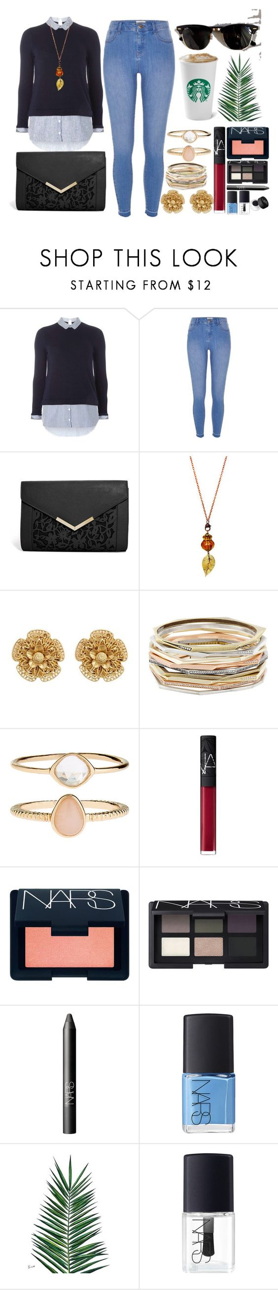 """Untitled #764"" by overdue22 ❤ liked on Polyvore featuring Dorothy Perkins, River Island, ASOS, Miriam Haskell, Kendra Scott, Accessorize, NARS Cosmetics, Ray-Ban, Nika and bup"