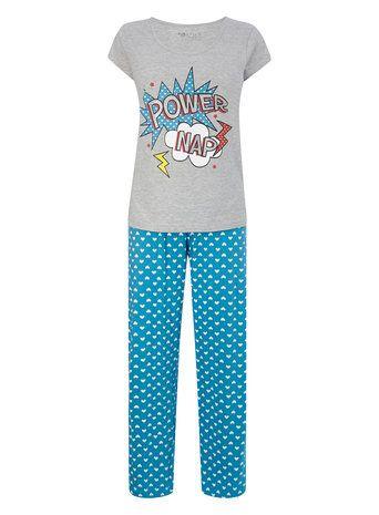 Grey Marl Power Nap Pyjamas