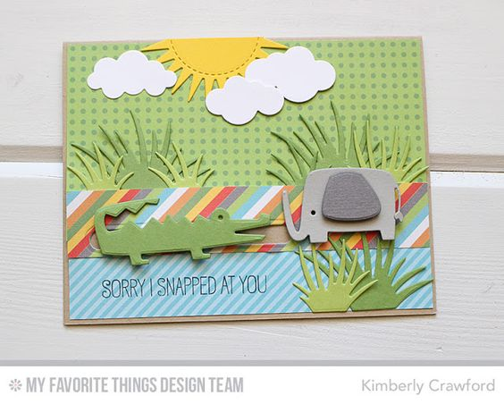 Jungle Friends, Jungle Friends Die-namics, Surf & Turf Die-namics, Puffy Clouds Die-namics, Radiant Sun Die-namics - Kimberly Crawford  #mftstamps: