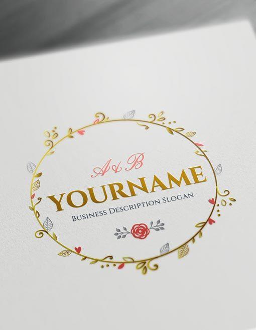 Online Floral Frame Logo Free Vintage Logo Maker Vintage Logo Maker Frame Logo Floral Logo Design