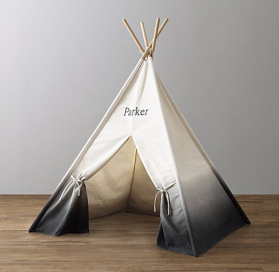 Ombré Printed Canvas Teepee Tent