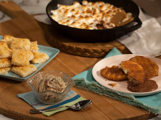 As seen on The Kitchen: Frozen Banana Yogurt with Peanut Butter and Chocolate-Hazelnut Swirl