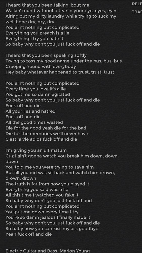 Your such a fucking hyprocrite lyrics