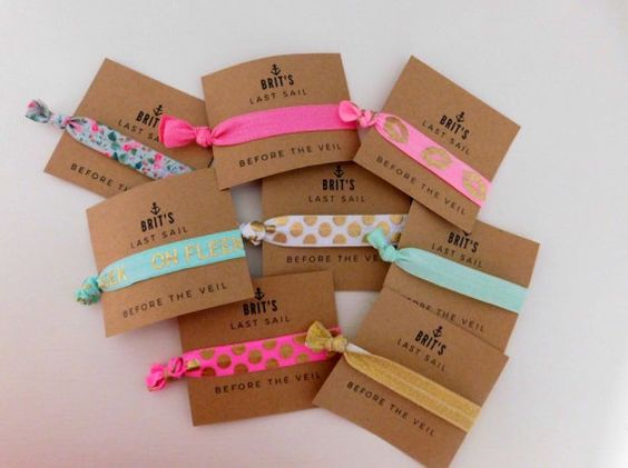 Custom Party Favor Hair Tie You Choose by QuinnLillianDesigns