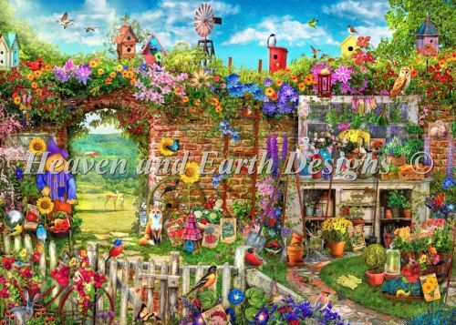Mini Garden Gate Cross Stitch Chart By Heaven And Earth Designs Garden Gates Cross Paintings Earth Design
