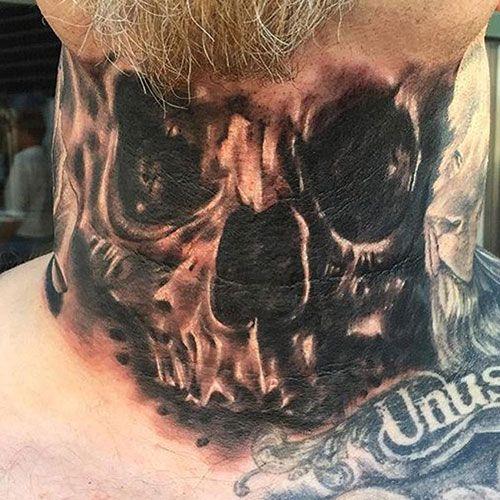 101 Best Skull Tattoos For Men Cool Designs Ideas 2019 Guide Tattoos For Guys Skull Tattoos Neck Tattoo
