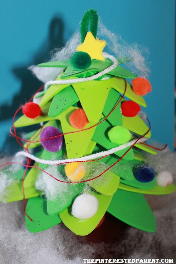 Trees crafts and christmas trees on pinterest for Foam sheet christmas crafts