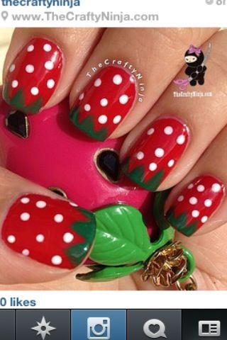 Lol strawberry nails