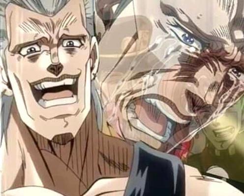 Jjba Jojo Reaction Meme Polnareff Crying In 2020 Jojo Anime Jojo S Bizarre Adventure Anime Jojo Bizarre