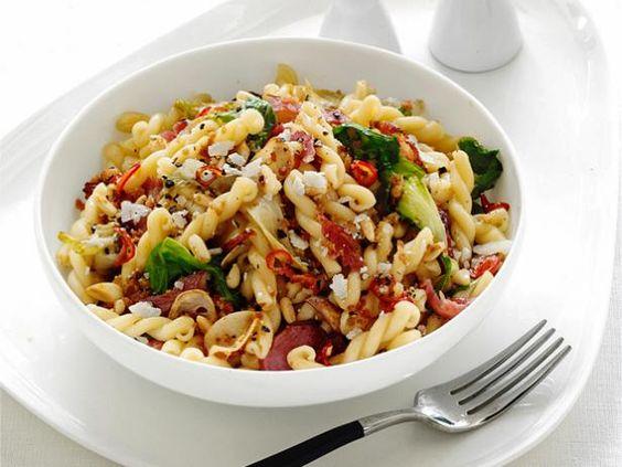 Pasta with Escarole #FNMag #myplate #letsmove #protein #veggies