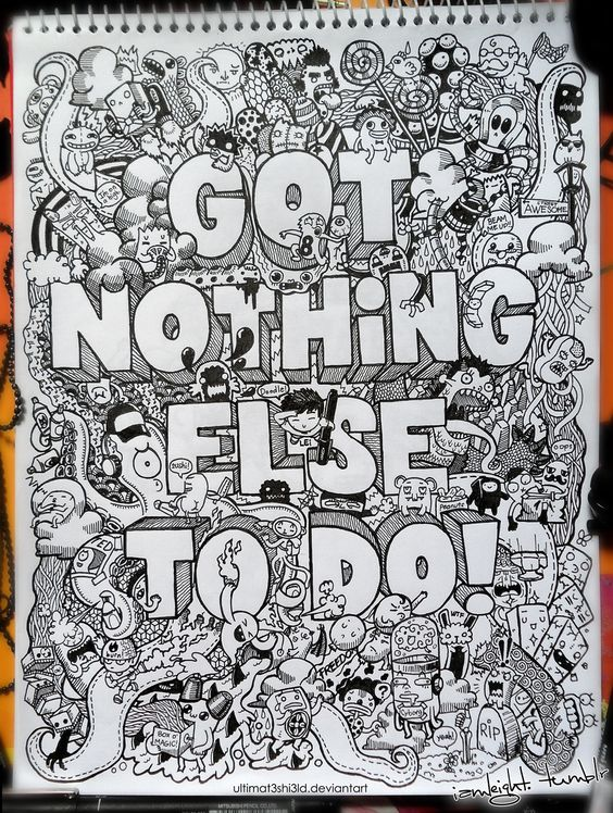 Doodle: Got Nothing Else to Do by *lei-melendres on deviantART