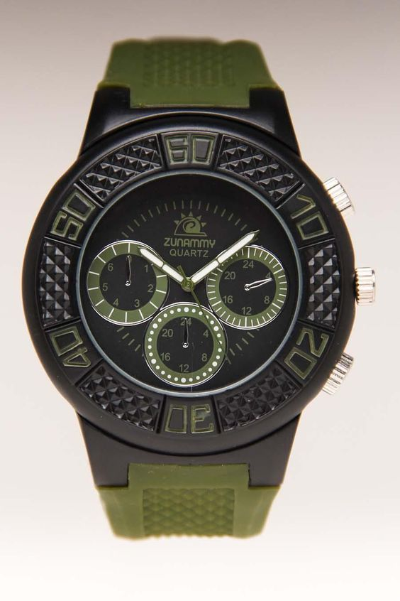 XTREME WATCHES ROUND TRIPLE DIAL WATCH