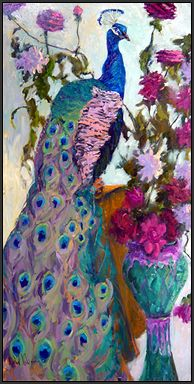 peacock painting: