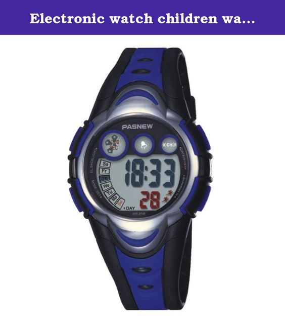 Electronic watch children watch / Girls Boys Watches / waterproof sports watch / running high school students watch-dark blue. Watches Mirror Material: plexiglass mirror Movement Type: Electronic Watch Type: Children Style: Cute Strap Material: Rubber Shape: Round display: digital waterproof depth: 30 meters life waterproof additional features: 24 hours indicates the calendar alarm table debit formula: buckle bottom of the table type: crown type: dial thickness: 14mm dial diameter: 41mm…