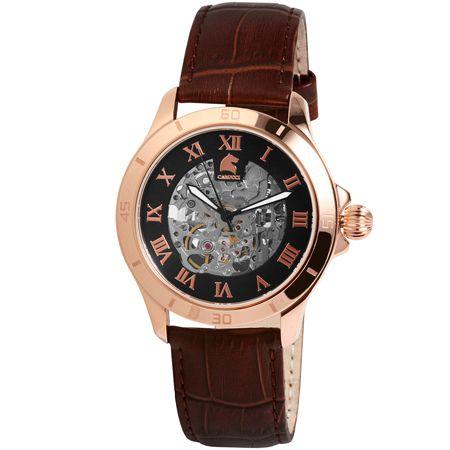 Carucci limited edition 300 stuks wereldwijd € 249,-  Prachtige skelet horloge met mechanische uurwerk geleverd in een schitterend luxe houten giftbox.  www.juweelco.nl