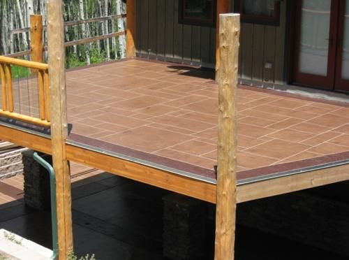 Waterproof concrete deck i want this for the deck for Sundeck flooring