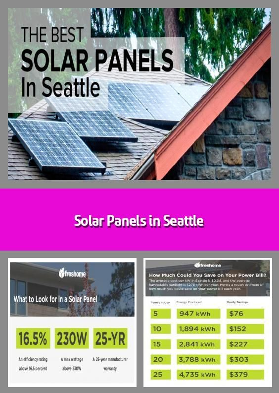 Solar Panels In Seattle Given Its Reputation As The Rain And Cloud Capital Of The Us Seattle May Not Seem Like A Place Where One Could Save Money Via Solar 2020