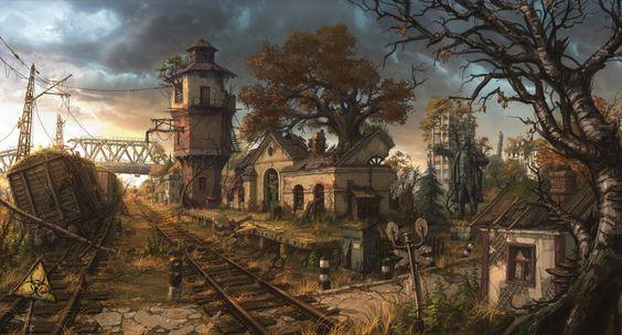 Railway station by Artyom Vlaskin Banderlog